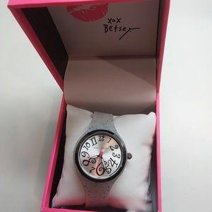 Betsey Johnson New Black & Gray Watch